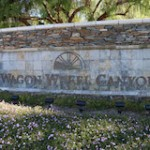Wagon Wheel Monument Sign